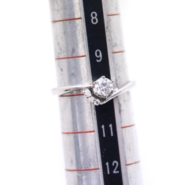 ノーブランド リング・指輪 レディース ダイヤモンド Pt850プラチナ 10号 シルバー 中古 送料無料 no brand