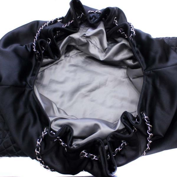 シャネル ココカバス GM 巾着型  チェーン  トート シルク ショルダーバッグ レディース サテン ブラック 中古 送料無料 CHANEL|goldeco|07