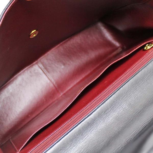 シャネル デカマト34 マトラッセ ダブルチェーン ショルダーバッグ レディース ラムスキン ブラック ゴールド金具 A47600 中古 送料無料 CHANEL