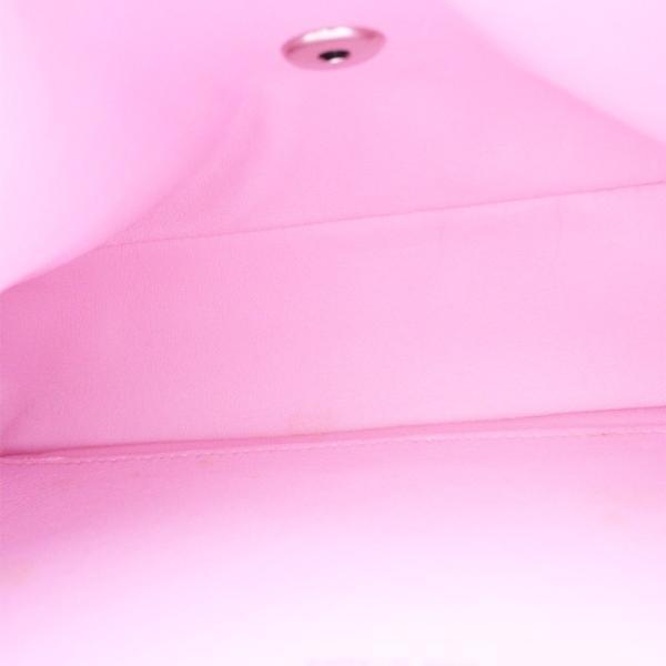 シャネル マトラッセ5 ショルダーバッグ レディース コットンキャンバス ピンク 中古 送料無料 CHANEL|goldeco|07