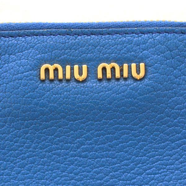 ミュウミュウ ダブルファスナー ショルダーバッグ レディース レザー ライトブルー ブルー 中古 送料無料 MIUMIU|goldeco|13