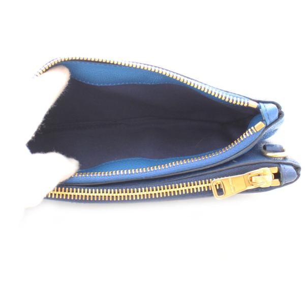 ミュウミュウ ダブルファスナー ショルダーバッグ レディース レザー ライトブルー ブルー 中古 送料無料 MIUMIU|goldeco|08