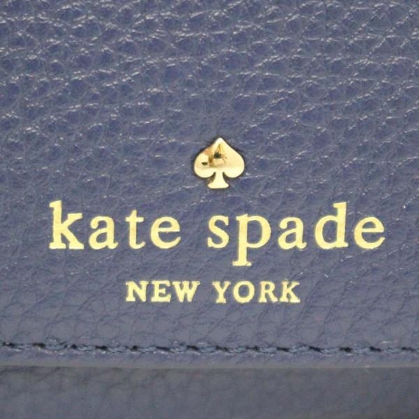 ケイトスペード ポーチ ハンドバッグ レディース レザー ブルー PWRU3938 中古  Kate Spade