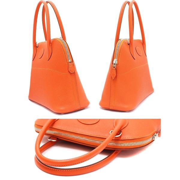 美品 エルメス ヴォーエプソン ボリード27 2WAYハンドバッグ □R刻印 オレンジ シルバー金具 ショルダーバッグ レディース 中古 HERMES