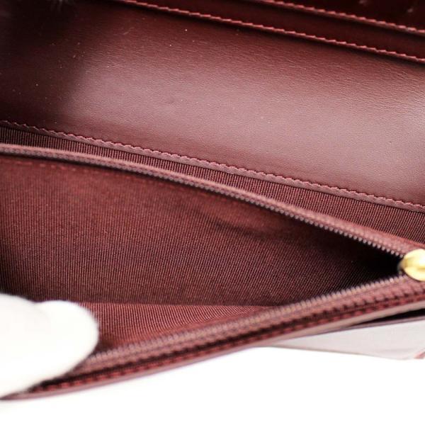 美品 シャネル マトラッセ ココマーク 二つ折り 長財布 レディース キャビアスキン ブラック A31509 中古 送料無料 CHANEL