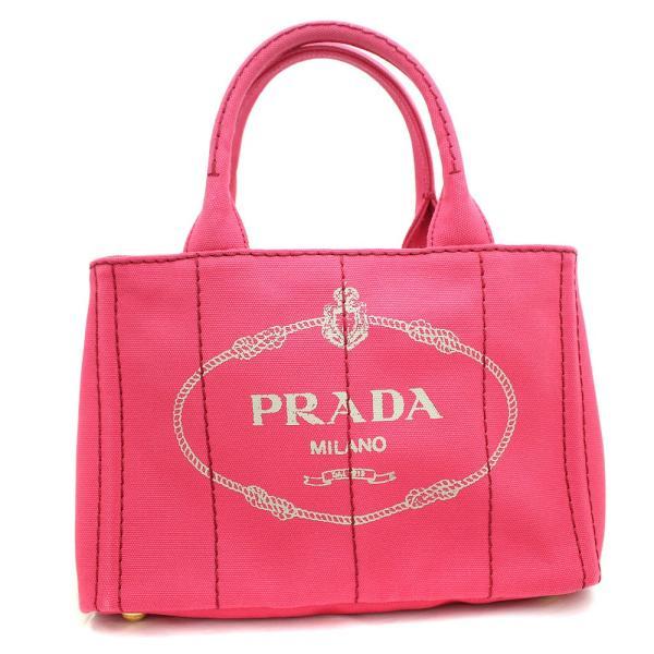 プラダ カナパ 2WAY ハンドバッグ レディース キャンバス ピンク B2439G   PRADA