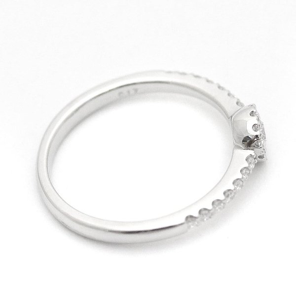 新品仕上げ済み ポンテヴェキオ リング・指輪 レディース ダイヤモンド Ptプラチナ ジュエリー 9号 シルバー 中古 送料無料 Ponte Vecchio