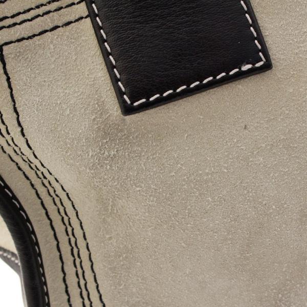 ロエベ ミニボストン アマソナ28 ハンドバッグ レディース スウェード レザー アイボリー ブラック   LOEWE