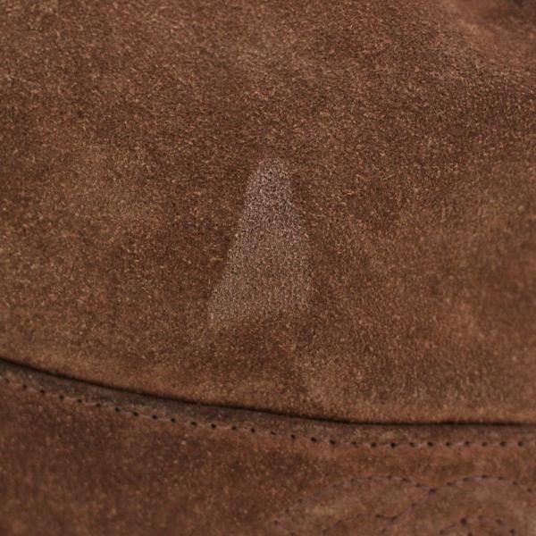シャネル ココマーク チェーン 巾着型 ショルダーバッグ レディース スウェード レザー ブラウン カーキ 中古 送料無料 CHANEL