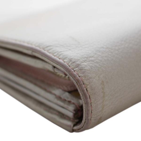 アンテプリマ フラワー 二つ折り 長財布 レディース レザー メタリックカラー ピンク 中古  ANTEPRIMA goldeco 12