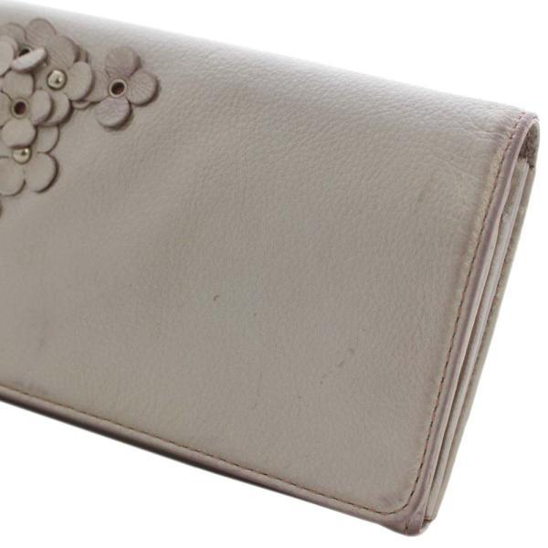 アンテプリマ フラワー 二つ折り 長財布 レディース レザー メタリックカラー ピンク 中古  ANTEPRIMA goldeco 13