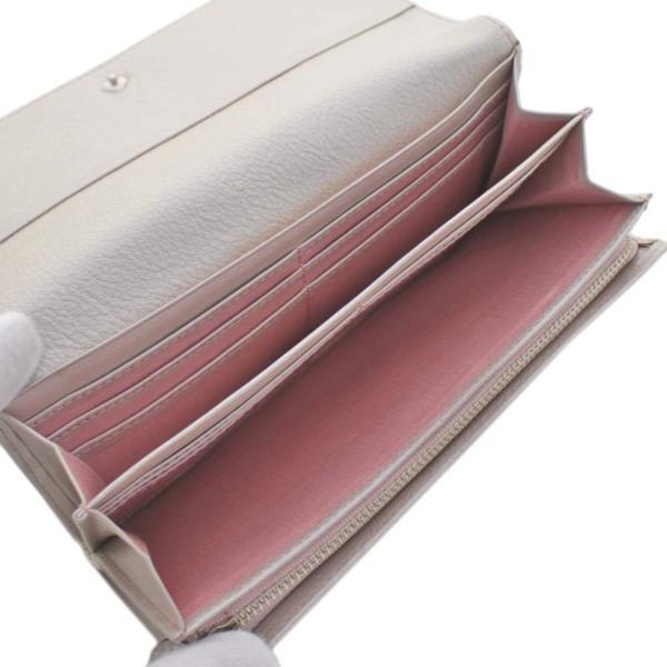 アンテプリマ フラワー 二つ折り 長財布 レディース レザー メタリックカラー ピンク 中古  ANTEPRIMA goldeco 04
