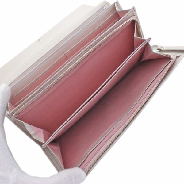 アンテプリマ フラワー 二つ折り 長財布 レディース レザー メタリックカラー ピンク 中古  ANTEPRIMA goldeco 05