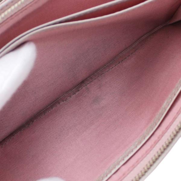 アンテプリマ フラワー 二つ折り 長財布 レディース レザー メタリックカラー ピンク 中古  ANTEPRIMA goldeco 06