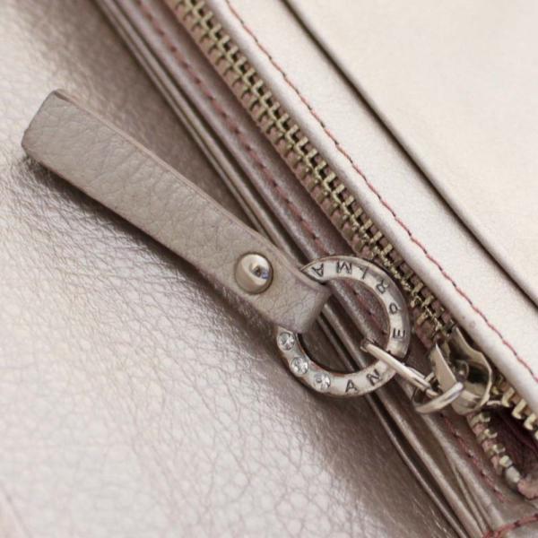 アンテプリマ フラワー 二つ折り 長財布 レディース レザー メタリックカラー ピンク 中古  ANTEPRIMA goldeco 10