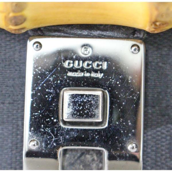 グッチ バンブー ハンドバッグ レディース GGキャンバス レザー ブラック 111713   GUCCI