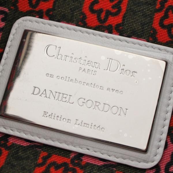 クリスチャンディオール ダニエルゴードン Lady Art クラッチバッグ レディース レザー スパンコール ホワイト ブラック 中古 送料無料 Christian Dior