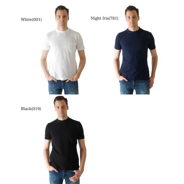 Three Dots スリードッツ モックネック 胸ポケTシャツ S/S mock neck tee BO176MY 半袖Tシャツ 胸ポケット|golden-state|02