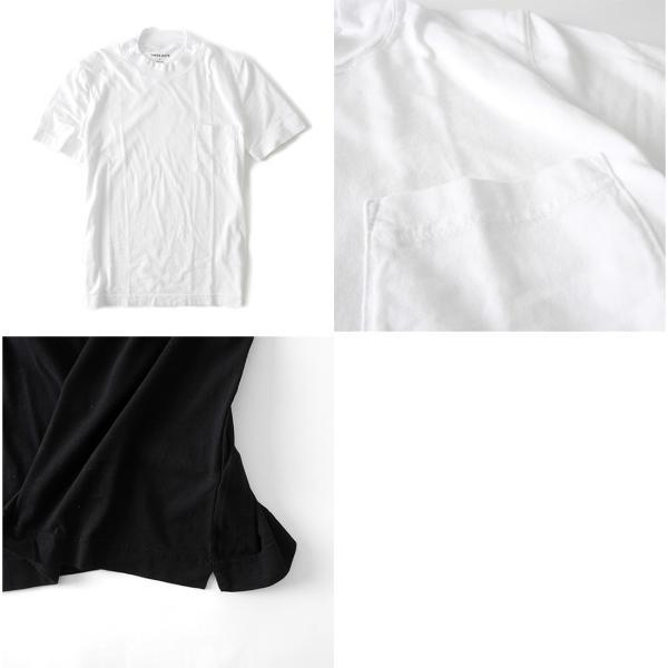 Three Dots スリードッツ モックネック 胸ポケTシャツ S/S mock neck tee BO176MY 半袖Tシャツ 胸ポケット|golden-state|05
