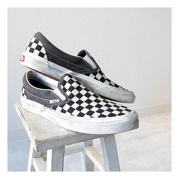 [最大2,000円クーポン発行中 9/22(金)12:59終了] バンズ チェック スリッポン VANS GZM チェッカーフラッグ  柄 ビンテージ 靴|golden-state