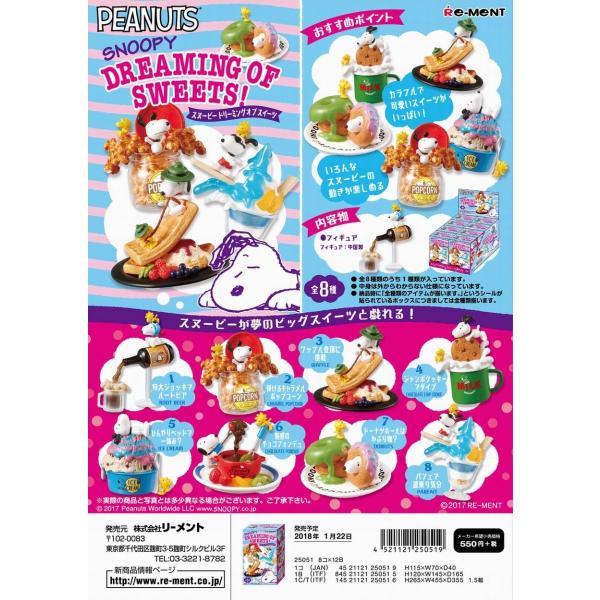 リーメント スヌーピー Dreaming of Sweets! 全8種 1BOXでダブらず揃います。
