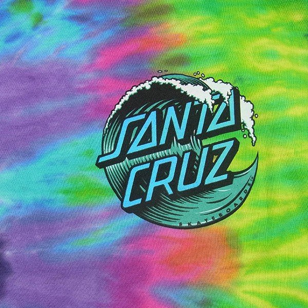 SANTACRUZ サンタクルズ WAVE DOT TIEDYE TEE ウェーブドット タイダイ Tシャツ 半袖 カットソー トップス プリントT メンズ レディース|goldentijuana|02