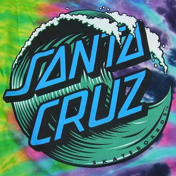 SANTACRUZ サンタクルズ WAVE DOT TIEDYE TEE ウェーブドット タイダイ Tシャツ 半袖 カットソー トップス プリントT メンズ レディース|goldentijuana|04