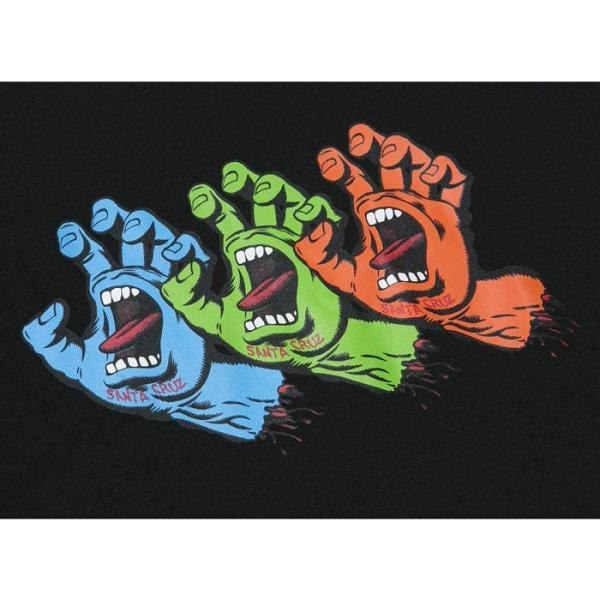 NEWERA ニューエラ SANTA CRUZ SCREAMING HAND3 TEE 11557849 サンタクルーズ スクリーミングハンド コットン Tシャツ ブラック 半袖 メンズ レディース goldentijuana 02