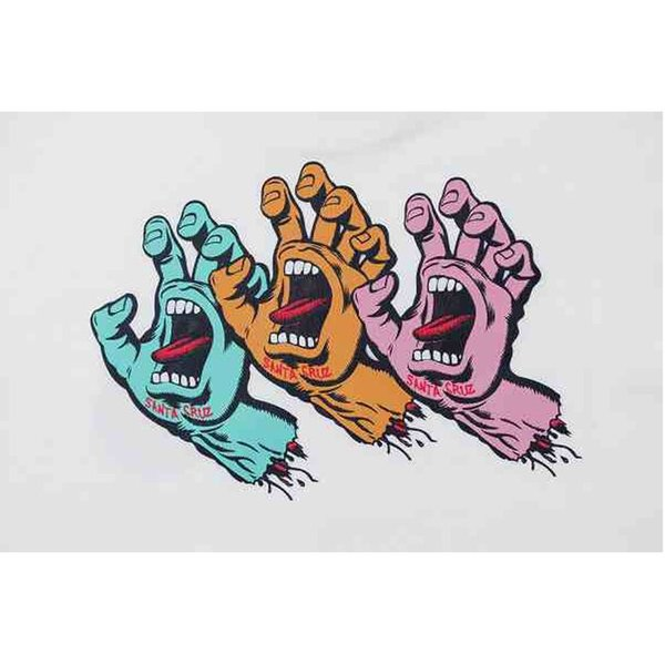 NEWERA ニューエラ 12110827 Santa Cruz サンタクルーズ Screaming Hand コットン Tシャツ 半袖 コラボレート メンズ レディース 2カラー|goldentijuana|05