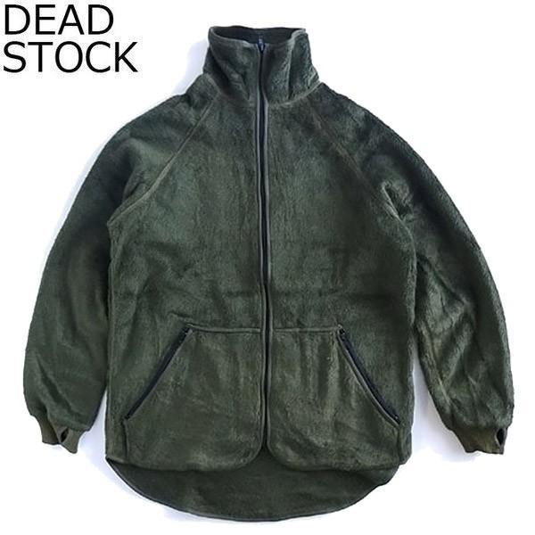 DEAD STOCK デッドストック NL 90s FLEECE JKT オランダ軍 90年代 フリース ジャケット ドロップテール オリーブ メンズ レディース