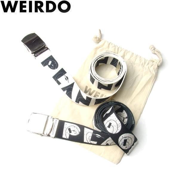 WEIRDO ウィアード PLANET SCOUT BELT プラネット スカウト ベルト ガチャベルト フリーサイズ メンズ レディース 2カラー WRD-19-AW-G14|goldentijuana