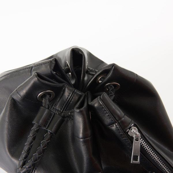 GOLDMEN ナップサック 本革 リュック ボディバッグ 巾着 レザー ジム サブバック 牛革 アウトドア カジュアル セカンドバッグ メンズ レディース GA1905|goldmen|15