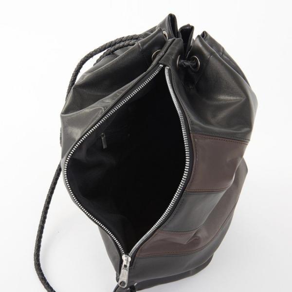 GOLDMEN ナップサック 本革 リュック ボディバッグ 巾着 レザー ジム サブバック 牛革 アウトドア カジュアル セカンドバッグ メンズ レディース GA1905|goldmen|16