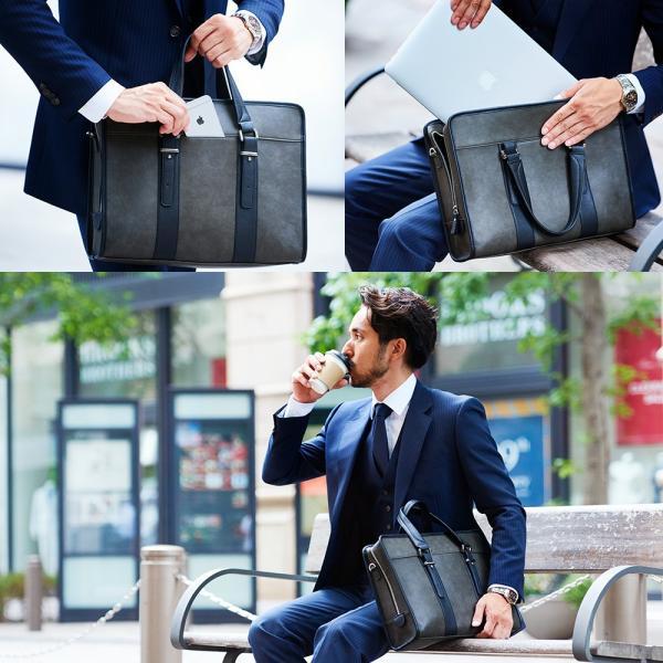 GOLDMEN ビジネスバッグ ブリーフケース メンズ 2way ショルダー 出張  鞄  レディース PCバッグ ビジネスマン リクルート 就活 A4 人気 通勤【GB1011】|goldmen|04