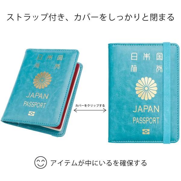 WALNEW RFID パスポートカバー パスポートホルダー パスポートケース スキミング防止 ベルト付き 旅行パスポート 財布 ウォレット goldriver 02