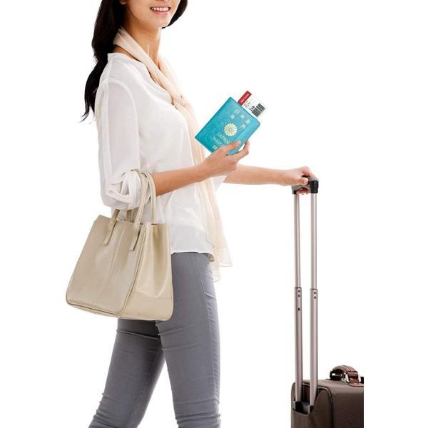 WALNEW RFID パスポートカバー パスポートホルダー パスポートケース スキミング防止 ベルト付き 旅行パスポート 財布 ウォレット goldriver 04