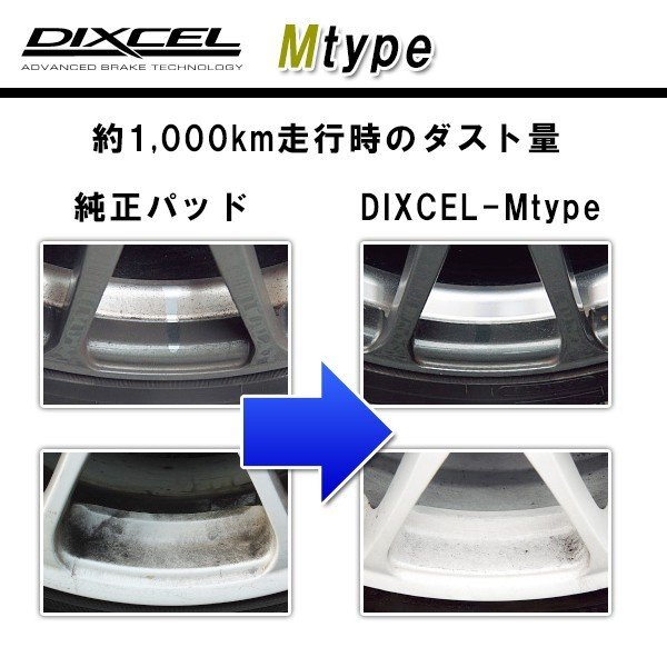 HONDA S660 DIXCEL ディクセル ブレーキパッド Mtype 前後セット 331446 335112|goldrush-store|02