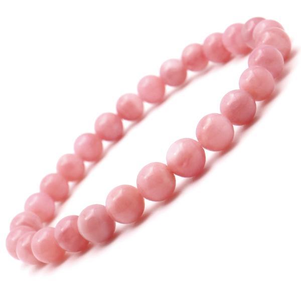 ピンクオパール ブレスレット 7mm 天然石 1点物