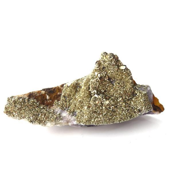 パイライト オン フローライト 原石 約61g  中国産 1点もの パワーストーン 天然石