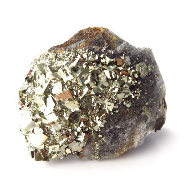 パイライト オン フローライト 原石 約71g  中国産 1点もの パワーストーン 天然石