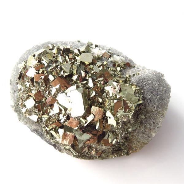 パイライト オン フローライト 原石 約131g  中国産 1点もの パワーストーン 天然石