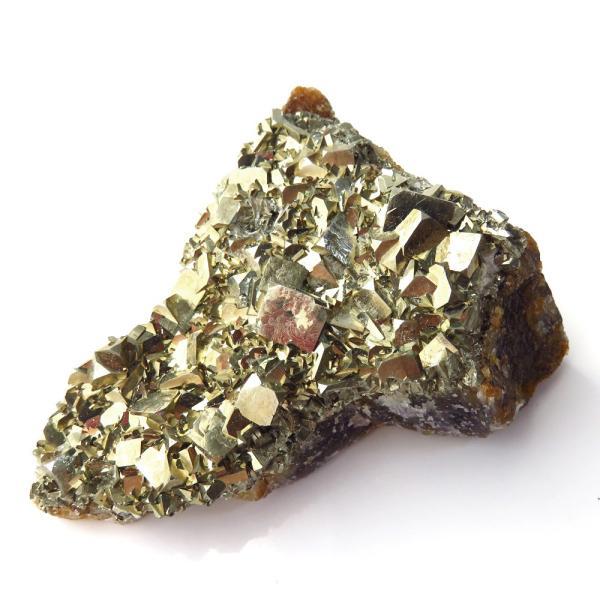 パイライト オン フローライト 原石 約52g  中国産 1点もの パワーストーン 天然石