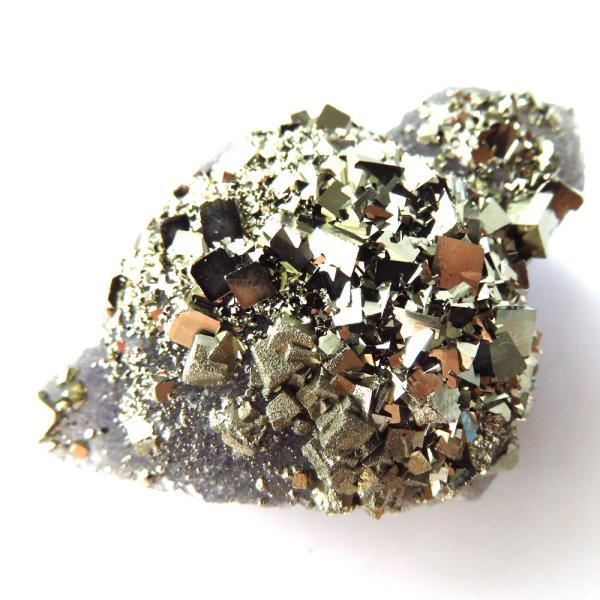 パイライト オン フローライト 原石 約41g  中国産 1点もの パワーストーン 天然石