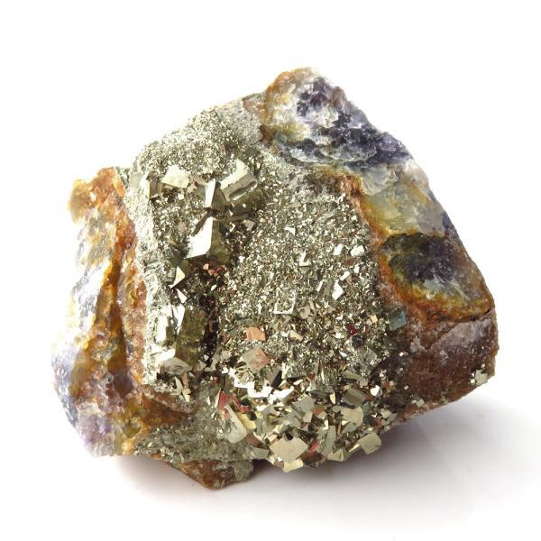 パイライト オン フローライト 原石 約121g  中国産 1点もの パワーストーン 天然石