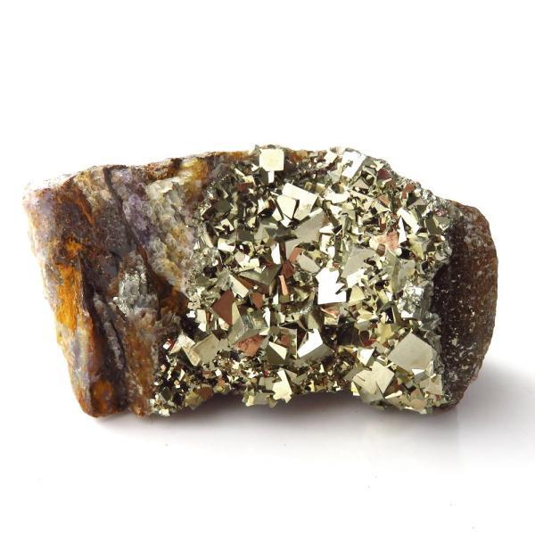 パイライト オン フローライト 原石 約65g  中国産 1点もの パワーストーン 天然石