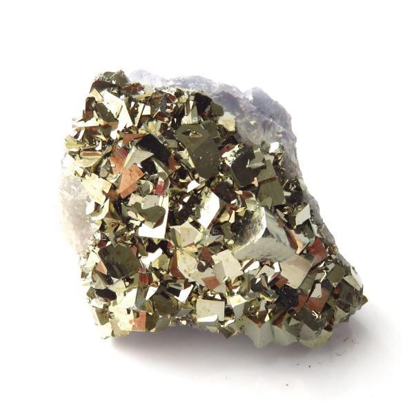 パイライト オン フローライト 原石 約29g  中国産 1点もの パワーストーン 天然石