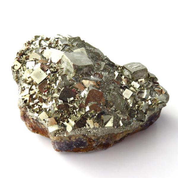 パイライト オン フローライト 原石 約77g  中国産 1点もの パワーストーン 天然石