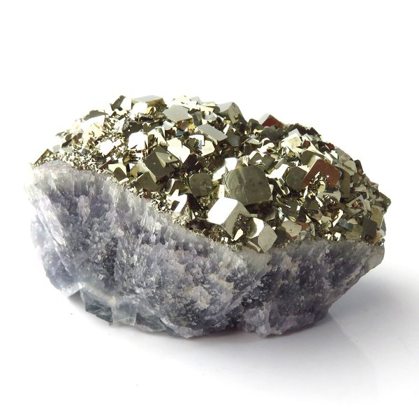 パイライト オン フローライト 原石 約83g  中国産 1点もの パワーストーン 天然石