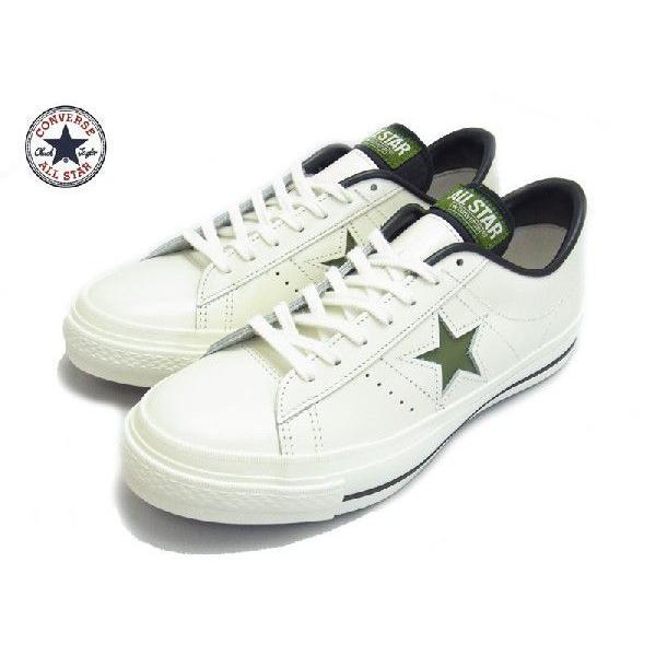 スニーカー メンズ CONVERSE コンバース ONE STAR J ワンスターJ WHITE GREEN ホワイト グリーン MADE IN JAPAN 日本製|goldtakeoff7