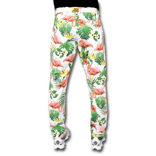 ラウドマウス ゴルフウエア メンズ パンツ ロングパンツ 長ズボン 吸汗速乾 ストレッチ 大きいサイズ Flamingo Bay White ロングパンツ 768-307-120 春夏|golf-line|02